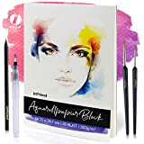 int!rend Aquarellpapier, 300 g, DIN A4, 30 Blatt, Weiß, geleimt, Aquarellblock, Watercolour Paper...