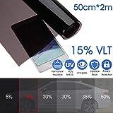 Tönungsfolie für Autofenster, 15% VLT-Glas, Tönungsfolie, Aufkleber, Sonnenschutz, für...