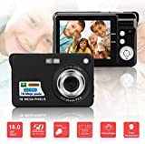 Kinderkamera, PZNSPY Portable 2.7 & quot; 720P 18MP 8fach Zoom TFT LCD HD Digitalkamera Video...