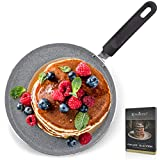 ROSMARINO Crepespfanne Induktion 25 cm, Pancake Pfanne Premium Pfannkuchenpfanne Induktion |...