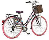 breluxx® 28 Zoll Damenfahrrad Venera Fashion Geisha Citybike mit Korb + Licht Retro Damenrad, 6...
