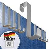 Türhaken – 10er Set, Edelstahl – Made in Germany Haken ohne Bohren, einzeln verwendbar –...