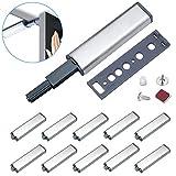 Drucktüröffner Magnetschnäpper Jiayi 10 Stück Druckschnapper Magnet Türschließer Stark Push to...