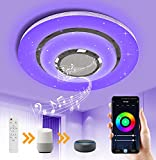 OTREN LED Deckenleuchte RGB mit Bluetooth Lautsprecher, Smart Lampen Deckenlampe mit Farbwechsel,...