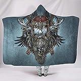 BOBONC Viking 8 SerieHome Hooded Throw Wrap Hypoallergen Schlafdecke Winter TV Werfen Decke Fr...