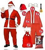 TK Gruppe Timo Klingler 6 in 1 Nikolauskostüm - Weihnachtsmannkostüm Verkleidung für Weihnachten...