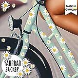 Wandtattoo Loft Fahrradaufkleber 64 STK. Gänseblümchen Blüten Blumen Fahrrad Sticker...