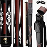 Python - 2- Pieces Pool Cue Stick 100% Canadian Maple Wood. Professional Billiard Pool Cue Stick...