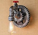 XHLCQJ Lámpara de aplique de pared de metal rústico de hierro (bombilla no incluida)