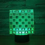 Schach 3D Nachtlicht LED Illusion Lampe mit 7 Farben Ändern und Fernbedienung - Geburtstags und...