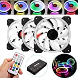 YLiansong-office Computer Case Fan 3PCS 120mm Adjustable RGB LED-Licht Computer-Gehuse PC-Lfter mit...