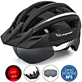 Victgoal Fahrradhelm MTB Mountainbike Helm mit abnehmbarem magnetischem Visier Abnehmbarer...