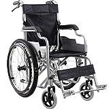 LHQ-HQ Ergonomischer Rollstuhl Leichte 14Kg Faltbare Transport Medical Bequeme Armlehne Rückenlehne...