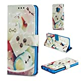 Galaxy S9 Hülle, S9 PU Leder Hülle, 3D Wallet Stand Book Cover mit Credit ID Holders Flip Magnetic...