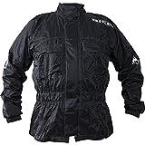 Richa Rain Warrior - Motorrad-Regenjacke - Textil - berjacke - Schwarz - 4XL
