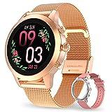 Aney Well Smartwatch Damen, Smart Armbanduhr Fitness Tracker Wasserdicht IP68 Fitnessuhr Pulsuhren...
