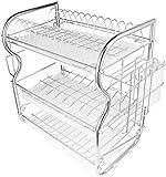 JIAJBG Rack-Drain-1 Pc Küchenmesser Ablass Gestell 3 Schicht-Dish Drainer...