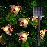Romantische Neue Solar-Nette Honigbiene führte Schnur-feenhaftes Licht Powered 20leds 30leds Bee...