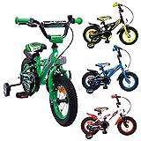 AMIGO BMX Turbo - Kinderfahrrad - 12 Zoll - Jungen - mit Rücktritt und Stützräder - ab 3 Jahre -...