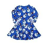 Qinghengyong Christmas Baby Baby-Kleider Schneemann-Druck Kleinkind-Kind-Mädchen-Langarm-Kleid...