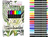 Jantaré Textilmarker   20 Textilstifte waschmaschinenfest - Stoffmalstifte ideal zum bemalen von...