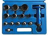 Henkellocheisen Satz 14-tlg. 5-35 mm Locheisen Satz Set Stanzeisen Lochstanzer Lochwerkzeug Stanz...