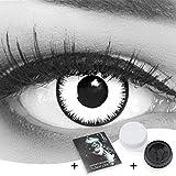 Farbige Kontaktlinsen 1 Paar weisse schwarze Lunatic Vampir mit schwarzem Rand 1 Paar. Topqualität...