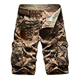 Sokmoop Herren Camouflage Cargo Shorts Sommer Baumwolle Shorts Lässige Bermuda Sweatshorts mit...