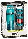 BlenderBottle Combo Pak - Sportmixer Shaker 820 ml Fassungsvermögen und GoStak Starter 4Pak mit...