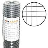 ESTEXO Volierendraht feuerverzinkt, Höhe 1,00 m 25 Meter 16 x 16 mm