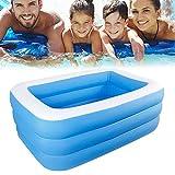 Iraza Aufblasbarer Pool, Family Pool, Schwimmbecken rechteckig für Baby,Kinder, Jugendliche und...