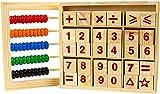 INTVN Holzabakus Spielzeug-Holzklötze, Montessori-Bildungs-Spielzeug,Bunt Hölzern Rechenrahmen...