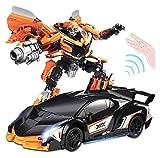 QVVQ 1:12 Scale Radiosteuerung RC Elektro nachladbare Auto Transformers Spielzeug Autos 360 °...