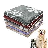 softan Hundedecke Waschbare, Weicheund Warme Fleecedecke Haustierdecke für Hund,Katzen,...