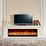 Holz Moderne 3D Electric Fire Realistische LED Flammeneffekt Kamin 750 / 1500W...