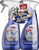 SONAX 2x XTREME Felgenreiniger PLUS (500 ml) effiziente & säurefreie Reinigung aller Leichtmetall-...