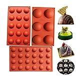 BAKER DEPOT Bakeware Set Silikonform für Kuchen Dekoration Gelee Pudding Süßigkeiten Schokolade 6...