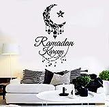 wopiaol Vinyl Wandtattoo Ramadan Kareem Islamische Wandaufkleber Removable Home Decoration Ramadan...