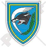 Belgische 1. Flgel-Emblem-Badge, belgische Luftkomponente, Luftwaffe, 90 mm, Vinyl-Aufkleber