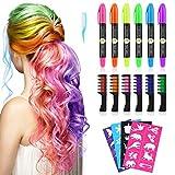 Haarkreide, Kastiny 6 Hair Chalk Geschenke für Kinder Mädchen, 6 Colorful Temporäre...