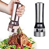 Mentohe Küche, die Werkzeug 2 IN 1 Elektrische Salz- und Pfeffermühle Premium-Salzstreuer Spice...