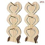 lailongp 2 Stück Holz Snack Ständer Ständer Ständer Ständer für Hochzeit Party Dekoration
