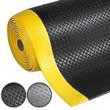 Anti-Ermüdungsmatte Dyna-Protect Diamond | Arbeitsplatzmatte | Schwarz-Gelb | Warnstreifen | 90x200...