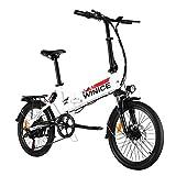 VIVI E-Bike Klapprad, 20' Elektrofahrrad, 350W Citybike Elektrisches Fahrrad mit herausnehmbarer 8...