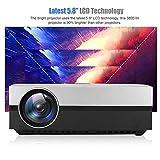 Jacksking 3800Lm HD LED Smart Projektor Heimkino HDMI Home Beamer Basisversion, 1280x800Pixel,...