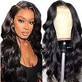 Echthaar perücke schwarz langhaar locken Lace front wig perücke lang body wave human hair curly...