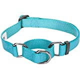 Blueberry Pet Sicherheitstraining Martingale Hundehalsband Klassisch Einfarbig 1,5 cm S Basic Nylon...