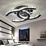 48W LED Deckenleuchte Modern Einfache Romantische Wohnzimmer Esszimmer Schlafzimmer K9 Crystal Klar...