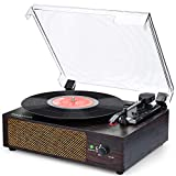 Plattenspieler mit Lautsprecher Plattenspieler Bluetooth Retro Schallplattenspieler mit Lautsprecher...