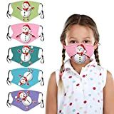 LANJIA Christmas Adjustable Washable Face 𝓶á𝓼𝓴 Für Baby Christmas Print Rescue...